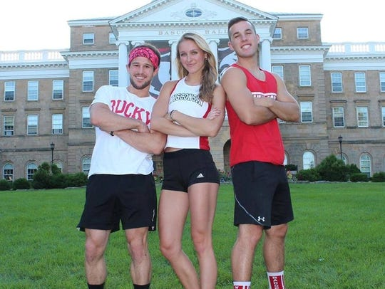Zack Kemmerer, left to right, Taylor Amann and Andrew