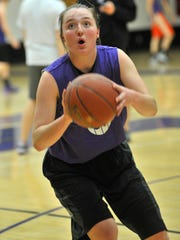 Mosinee sophomore Bailey Schultz leads the Great Northern Conference in both assists and steals this season. T'xer Zhon Kha/Daily Herald Media Bailey Schultz works on some basketball drills during Monday practice, Jan. 20, 2014, at Mosinee High School.