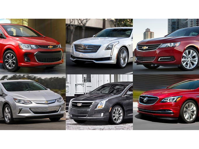 Clockwise from upper left, 2017 Chevrolet Sonic, 2017