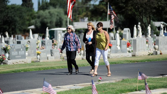 Tulare Veterans Association presents a Memorial Day service at the Tulare District Cemetery on Monday, May 26, 2014.