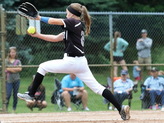 Plymouth's Jenny Bressler pitched a four-hitter and