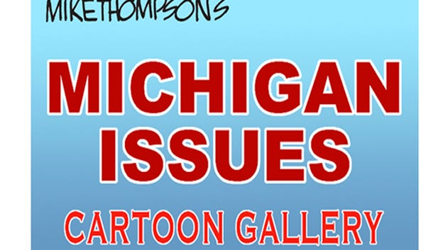 An animated gallery of Michigan cartoons