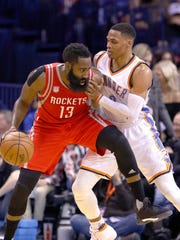 James Harden and Russell Westbrook are among the NBA