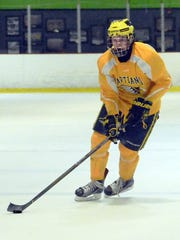 Hartland's Josh Albring, a former Triple-A travel player, said he enjoys high school  hockey more because of the practice schedule, fan support and daily interaction with his teammates.