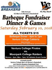 The Ventura College basketball team is hosting its annual barbecue fundraiser on Saturday ahead of its doubleheader with rival Moorpark College.