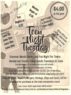 Teen Night Tuesdays flyer
