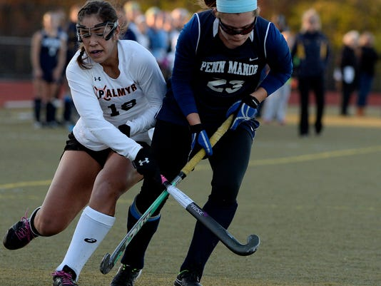 They scratched, they clawed, and in the end they tied. Palmyra and Penn Manor's 1-1 field hockey tie was a bizarre way to end this past field hockey season. (GameTimePA.com - File)
