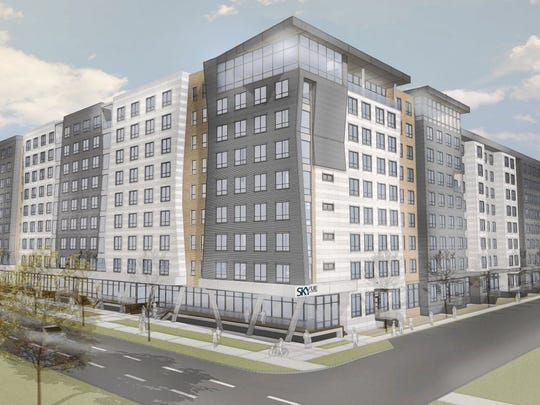A rendering of the $77 million SkyVue project planned along East Michigan Avenue near the Frandor Shopping Center.