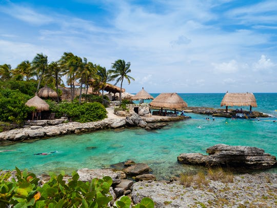 The beautiful oceanfront paradise of  Riviera Maya in Mexico.