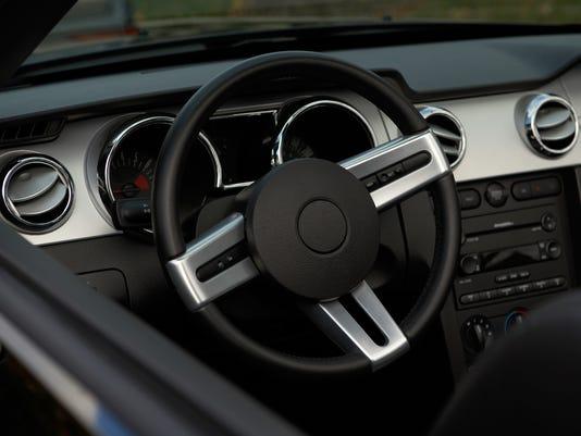 Interior of automobile