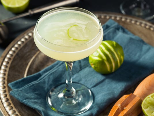 Alcoholic Lime and Gin Gimlet