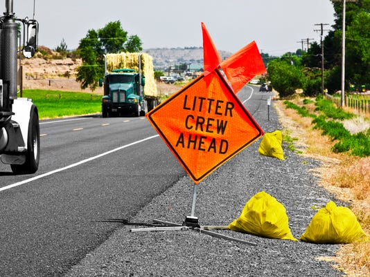 Litter Crew Ahead