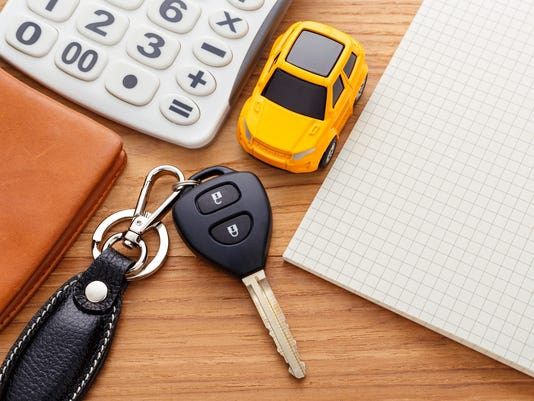 Car key with calculator and pocket money