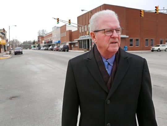 Mayor Steve Wood Friday, February 10, 2017, in downtown