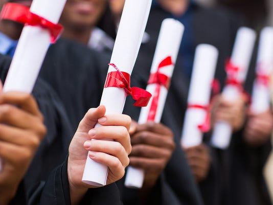 Generic Stock Image - Graduates Diplomas Degrees