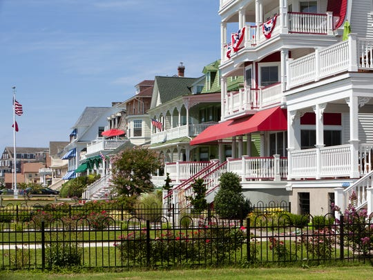Victorian style houses charm visitors in Cape May,