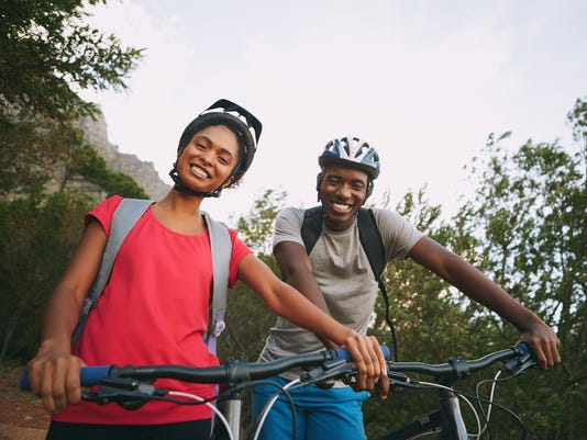 We love cycling together!