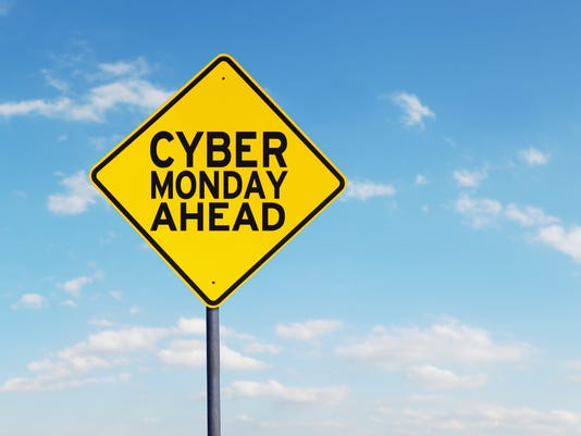 Cyber Monday text on a road sign