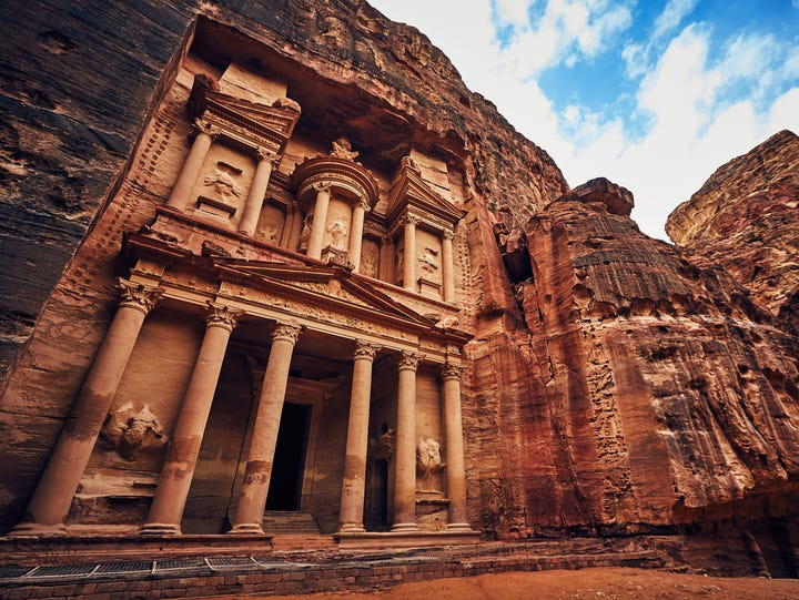 Petra in Jordan.