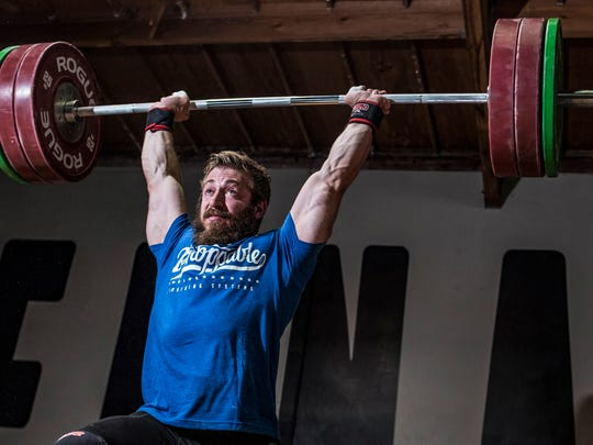 Anthony Pomponio, a Palm Desert High School graduate, was in the running for the USA 2016 Olympic weightlifting team. Photo taken on Friday, July 22, 2016 in Laguna Niguel during a training session.