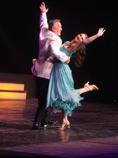 Dr. Dan Holt dances with Lauren Houck during Louisiana