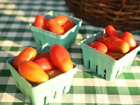 San Marzano tomatoes from Green Door Gourmet, an organic