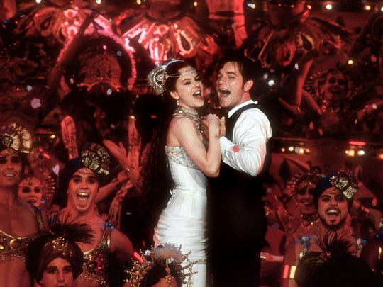 """Moulin Rouge,"" featuring Nicole Kidman and Ewan McGregor, will screen Friday at the Camelot Theatres as part of its movie musicals series."