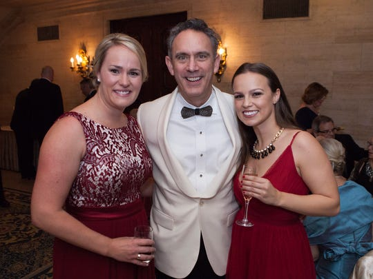 Shannon Denhoff, from left, Grand board chairman Brian DiSabatino and his daughter Jacqueline DiSabatini at the Grand Gala.