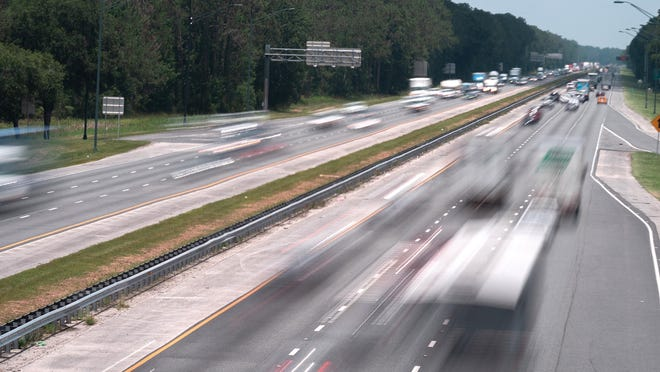In this file photo from The Record, vehicles travel on Interstate 95, north of International Golf Parkway in St. Johns County.