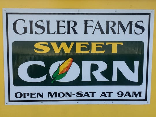 Gisler Farms sweet corn stand on 1616 W Olive Ave.,