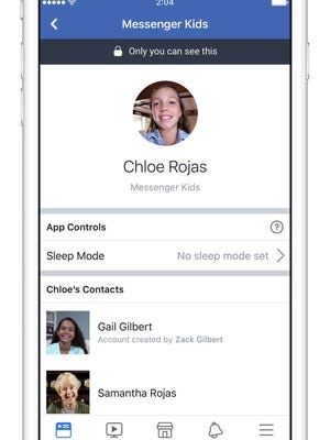 A parent can turn on sleep mode for Messenger Kids from their own Facebook app.