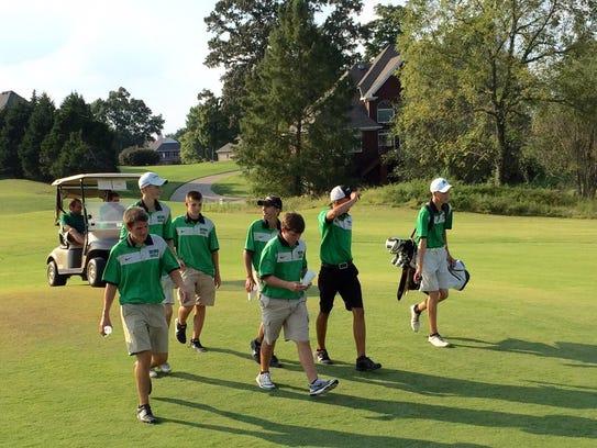 Houston County High School men's golf team at the regional