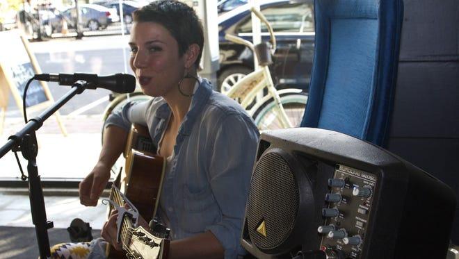 Tara Dente performs as part of the 2014 Asbury Underground festival.