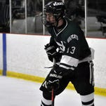 Novi's Bryan Fegert (13) had two goals and one assist in a 6-2 KLAA Central loss Wednesday to host Brighton.