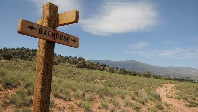 Signs point the way along the 12 miles of trails linking Cornville and Bridgeport in the Verde Valley.