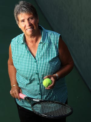 Rosie Casals, who was inducted into the International Tennis Hall of Fame in 1996, is photographed at Indian Ridge Country Club in Palm Desert on Monday, March 30, 2015. As a player, Casals pushed for equality in prize money awarded to male and female tennis players. She and eight other female professional tennis players were the first nine to compete on the Virginia Slims Circuit, a tennis tour that became a precursor to today's Women's Tennis Association (WTA). Casals is currently planning a round robin pro-am tennis tournament at Indian Ridge to benefit junior golf and honor the memory of tennis coach Jackie Cooper. The Rosie Casals & Jackie Cooper Tennis Invitational is in late April.