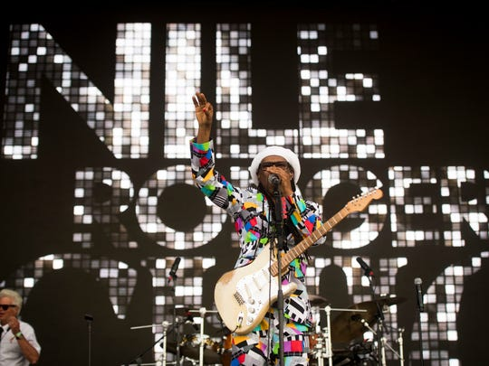 CHIC featuring Nile Rodgers performs at the Bonnaroo Music and Arts Festival in Manchester, Tenn., on Saturday, June 9, 2018.