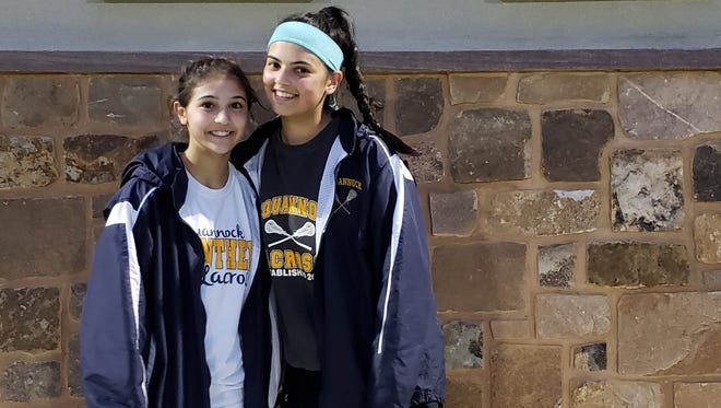 Shown here from left to right, Pequannock sisters Alex and Samantha Cherenson have led the way during a turnaround season.
