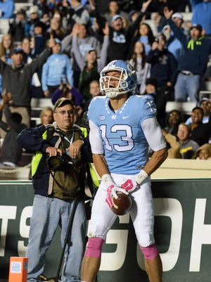 North Carolina Tar Heels receiver Mack Hollins (13) would make an ideal Bengals fit in the mid-rounds.