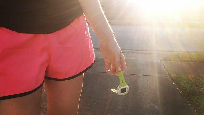 Running with a Garmin.