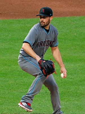 Arizona Diamondbacks starting pitcher Robbie Ray delivers in the seventh inning of a baseball game against the Pittsburgh Pirates in Pittsburgh, Tuesday, May 30, 2017. Ray got a complete game win 3-0.