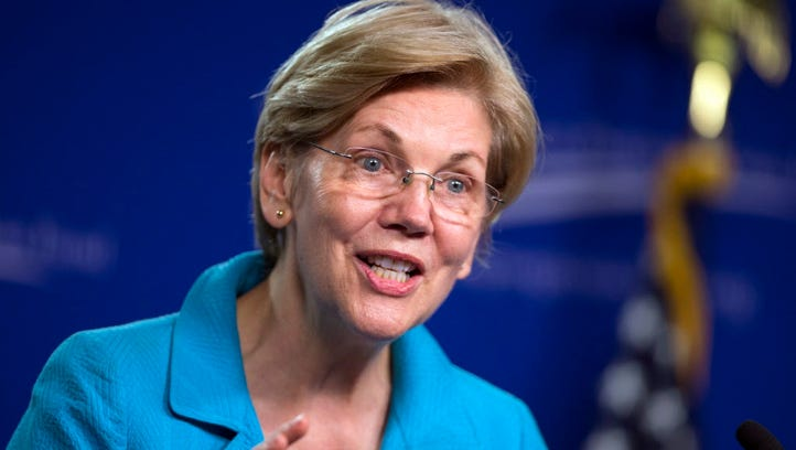 In this July 13, 2016, file photo, Sen. Elizabeth Warren,