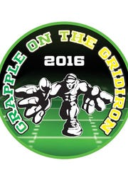 The logo for the 2016 Grapple on the Gridiron.