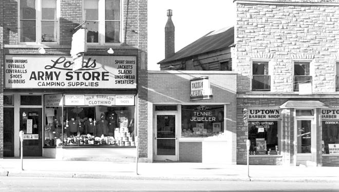 1957. Tennie Jeweler on College Avenue in downtown Appleton, Wisconsin. Post-Crescent photo