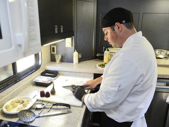 Upper Lakes Foods Head Chef Carl Stanley prepares one