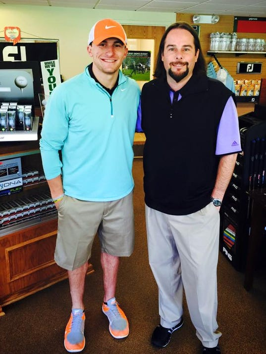 Johnny manziel golf