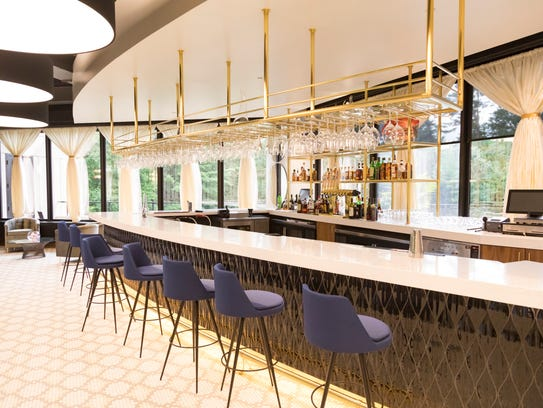 The bar at Muse at Sentry, the new restaurant located