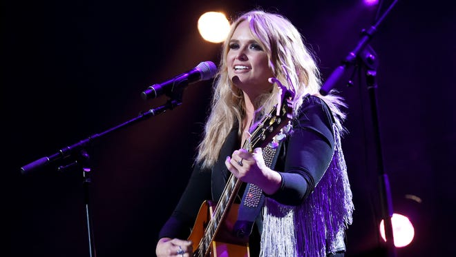 Miranda Lambert performs during George Strait's Hand in Hand Texas benefit concert.