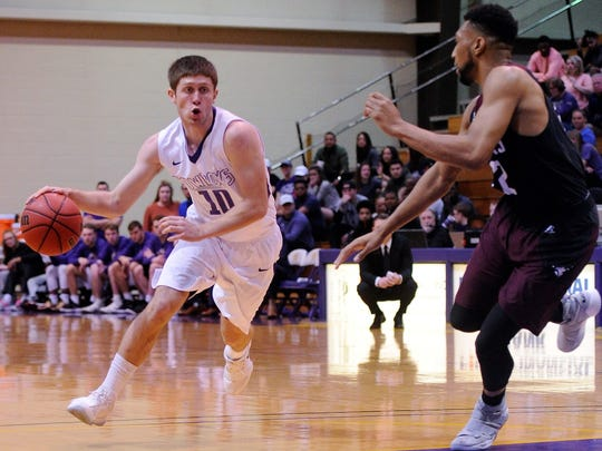Ryan Chaney (10) adds depth, experience and leadership to the Hardin-Simmons guards this season. The Cowboys also have added help inside after being guard-oriented last season.