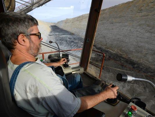 Dirk Turner dragline operator